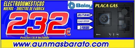 PLACA DE GAS 3ETG663HB