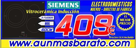 Vitroceramica induccion Siemens EH631BDB1E