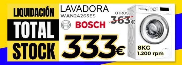 Lavadora Bosch WAN24265ES