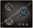 Placa de gas Natural Teka HFLUX603GAIALTRCI Cristal negro 60cm