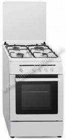 Cocina Tradicional Vitrokitchen CB55BNVS 4 zonas gas Natural Blanca
