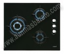 Encimera de gas Butano Cata CIB 6021 BK Cristal negro 59cm 3 zonas