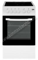 Cocina con placa vitroceramica Beko CSS48100GW Blanca 4 zonas