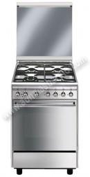 Cocina de gas natural Smeg CX68M81 4 zonas Inox