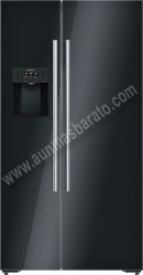 Frigorifico americano Siemens KA92DHB31 No Frost Cristal negro A