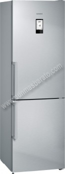 Frigorifico combi Siemens KG36NAI3P NoFrost Inox 186cm A