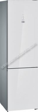 Frigorifico combi Siemens KG39FSW45 NoFrost Cristal Blanco 203cm A