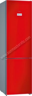 Frigorifico combi Bosch KGF39SR45 NoFrost Cristal rojo 203cm A