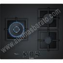 Placa de gas Bosch PPC6A6B20 Cristal templado Negro 60cm 3 Zonas