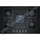 Placa de gas Bosch PPQ7A6B90 Cristal negro 75cm 5 Zonas