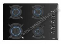 Placa gas BUTANO con mandos Teka GBC64003KBB 4 Fuegos Cristal Negro