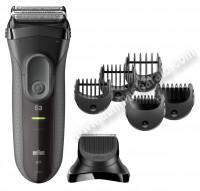 Afeitadora electrica Braun 3000BT Series 3 Gris Recargable