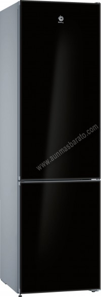 Frigorifico combi Balay 3KF7892BI NoFrost Cristal negro 203cm A