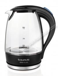Hervidor de agua Taurus Aroa Glass 1,7 Litros Negro y cristal
