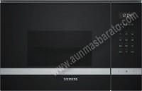 Microondas integrable con grill Siemens BE555LMS0 Cristal negro e Inox