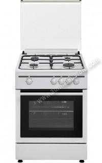 Cocina Tradicional Vitrokitchen CB55BB 4 zonas gas Butano Blanca