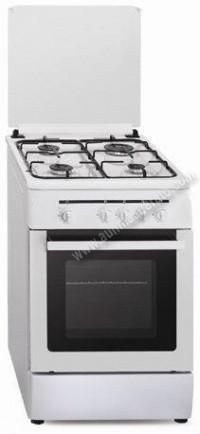 Cocina Tradicional Vitrokitchen CB55BN 4 zonas gas Natural Blanca