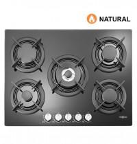 Placa gas NATURAL con mandos Vitrokitchen CG72NN Cristal
