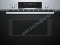 Horno multifuncion con microondas Bosch CMA585MS0 Cristal negro e Inox 45cm