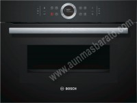 Horno multifuncion con microonads Bosch CMG633BB1 Cristal negro 45cm