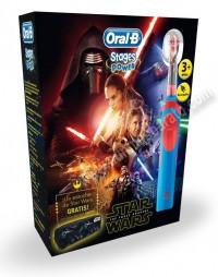 Cepillo de dientes electrico Braun OralB D12 Stages Star Wars y estuche