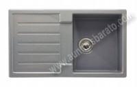 Fregadero sobre encimera Cata FRSD1SV Silver 1 cubeta y escurridor