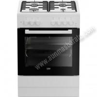 Cocina tradicional Beko FSE62110DW Blanca 4 zonas gas Natural