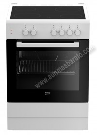 Cocina con placa vitroceramica Beko FSS67000GW Blanca 4 zonas
