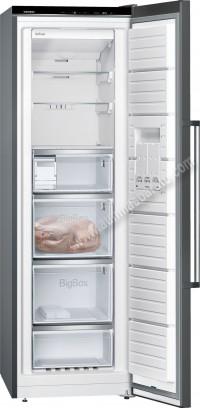 Congelador vertical Siemens GS36NAX3P NoFrost Black inox 186cm A