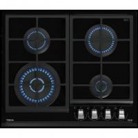 Placa gas Natural con mandos Teka GZC64320 4 Fuegos Cristal Negro