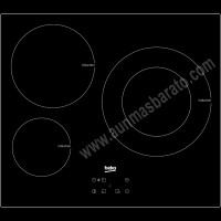 Vitroceramica de induccion Beko HII63402AT 3 zonas 60cm
