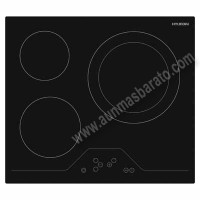 Vitroceramica Hyundai HYPV3052DB2 Cristal negro 59cm 3 zonas