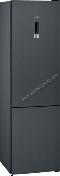 Frigorifico combi Siemens KG39NXXEA NoFrost Black Inox 203cm A