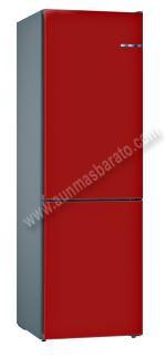 Frigorifico combi Bosch KVN39IREA Rojo cereza NoFrost 203cm