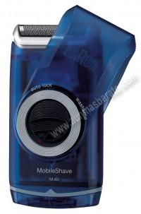 Afeitadora electrica Braun M-60 MobileShave Azul a pilas