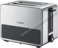 Tostador 2 ranuras Bosch TAT7S25 Inox y Silicona