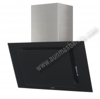 Campana Decorativa THALASSA 800XGBK Cristal Negro 80cm