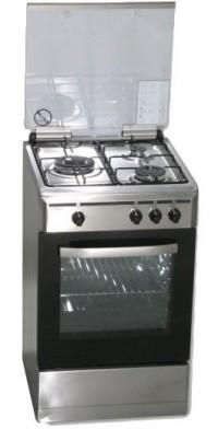 Cocina de gas Rommer VCH356XFGINOXBUT Inox Gas Butano 3 fuegos Blanco